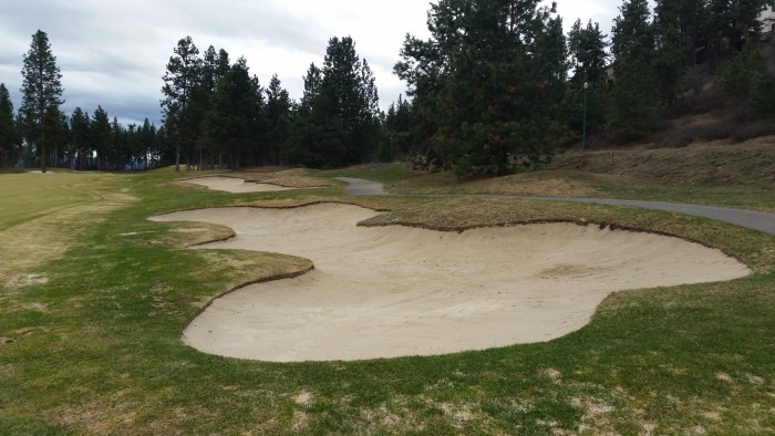 Quail #17 Bunkers after edging